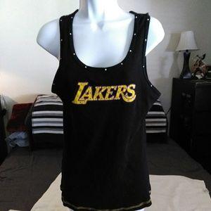 Los Angeles Lakers '#16 Gasol' Womens Tank - XL